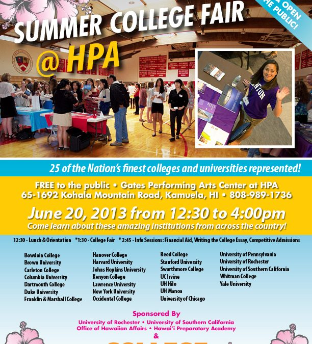 We're Hosting Two College Fairs This Summer!